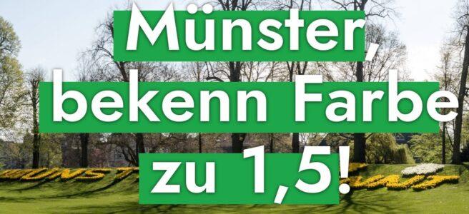 Münster bekenn Farbe zu 1,5!